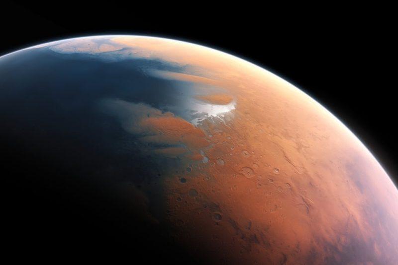 Há 3,5 bilhões de anos atrás um meteorito caiu em Marte, causando um poderoso tsunami.