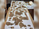 Pergaminho do 'Livro dos Mortos' de 4 metros de comprimento encontrado em uma sepultura no Egito.